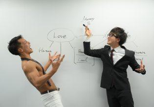 【オフィスのマッチョ】議論が白熱するマッチョ@筋肉 資料/reference photo for drawing muscle/at the office
