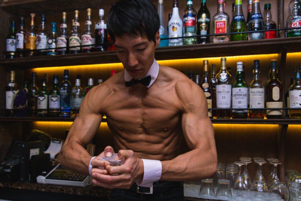 マッスルクラッシュアイス/reference photo for drawing muscle bar@マッチョ バー 福岡