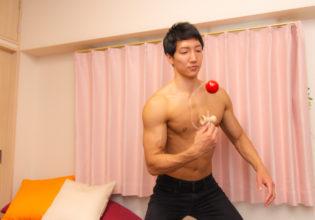 けん玉マッチョ/reference stock photo muscle new year holidays in Japan@マッチョ写真集