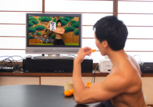 正月のマッチョ/reference stock photo muscle new year holidays in Japan@マッチョ写真集