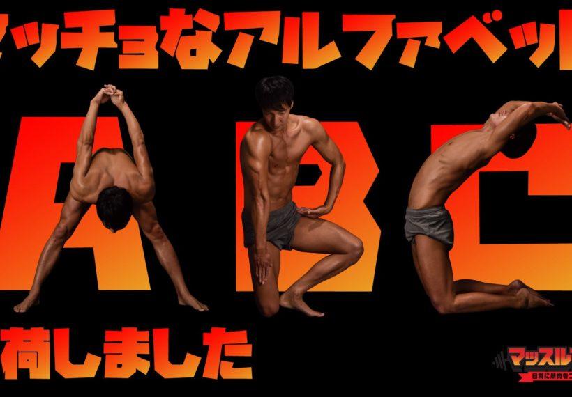 マッチョフォント/reference stock photo macho font@フリー素材 筋肉