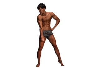 マッチョフォント「R」/reference stock photo macho font@著作権フリー 画像 筋肉
