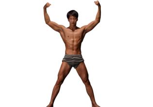 マッチョフォント「X」/reference stock photo macho font@著作権フリー 画像 筋肉