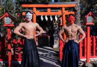 鬼マッチョ/reference stock photo muscle at shrine@写真 マッチョ