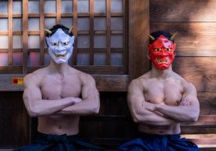 鬼マッチョ/reference stock photo muscle at shrine@鬼 フリー素材