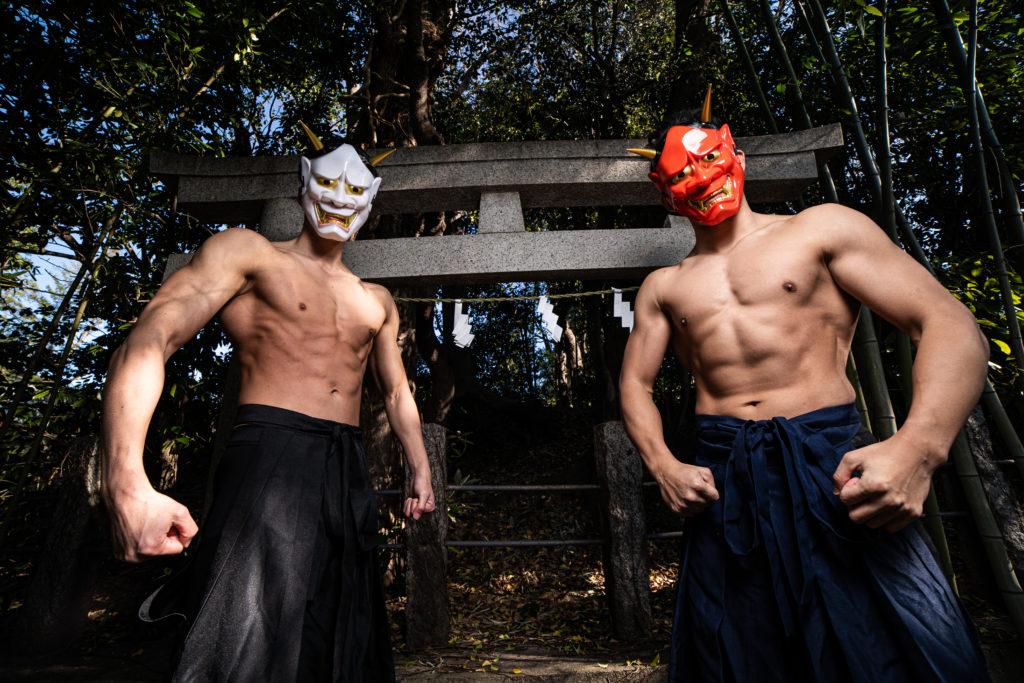 地獄の入口/reference stock photo muscle at shrine@フリー素材 鬼