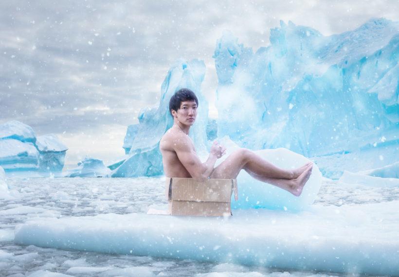 南極に捨てマッチョ/reference photo box macho@モデル 筋肉