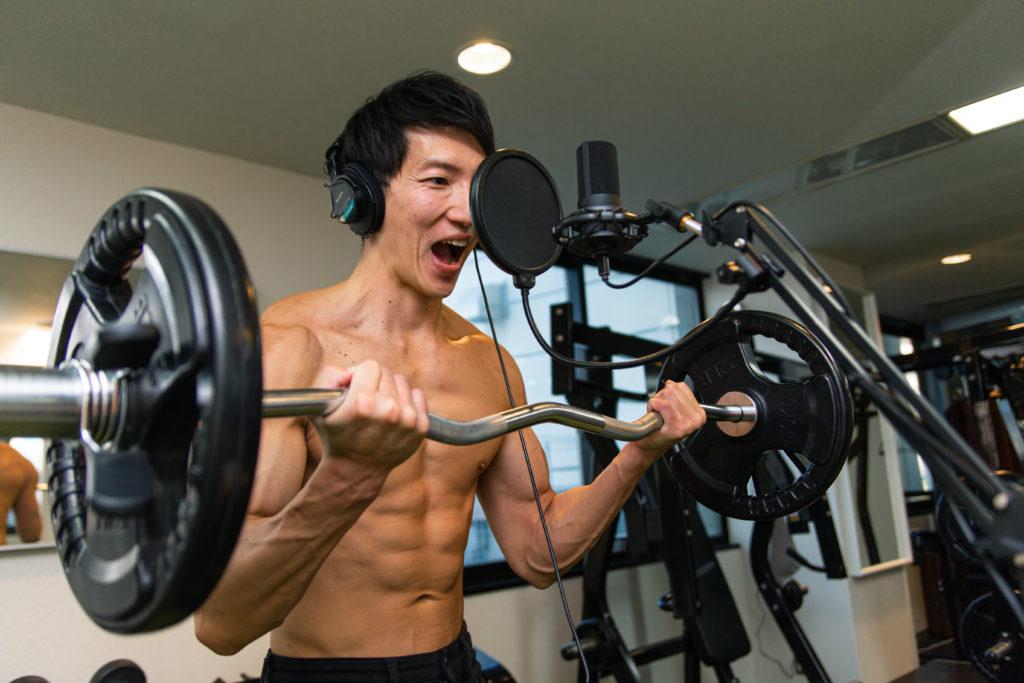 【音声素材】筋肉/barbell curl@アスリートモデル 筋肉