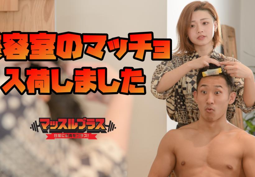 美容室のマッチョ/reference stock photo muscle beauty salon@フリー素材 マッチョ