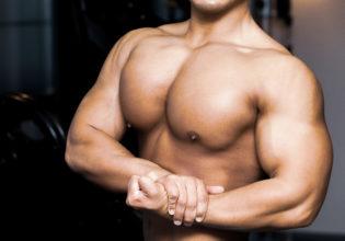 サイドチェストの大胸筋/reference stock photo muscle side chest@ボディビル マッチョ