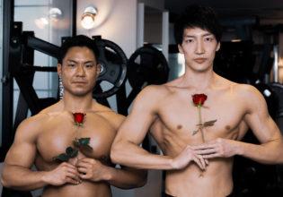 薔薇とマッチョ@アスリートモデル マッチョ