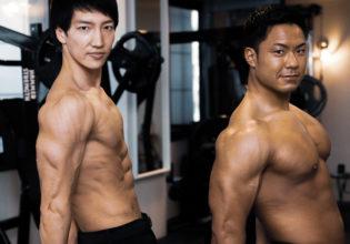 サイドトライセプス/reference stock photo muscle side triceps@アスリートモデル マッチョ
