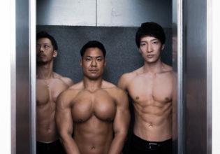 筋密度の高いエレベーター/reference stock photo elevatormuscle @アスリートモデル マッチョ