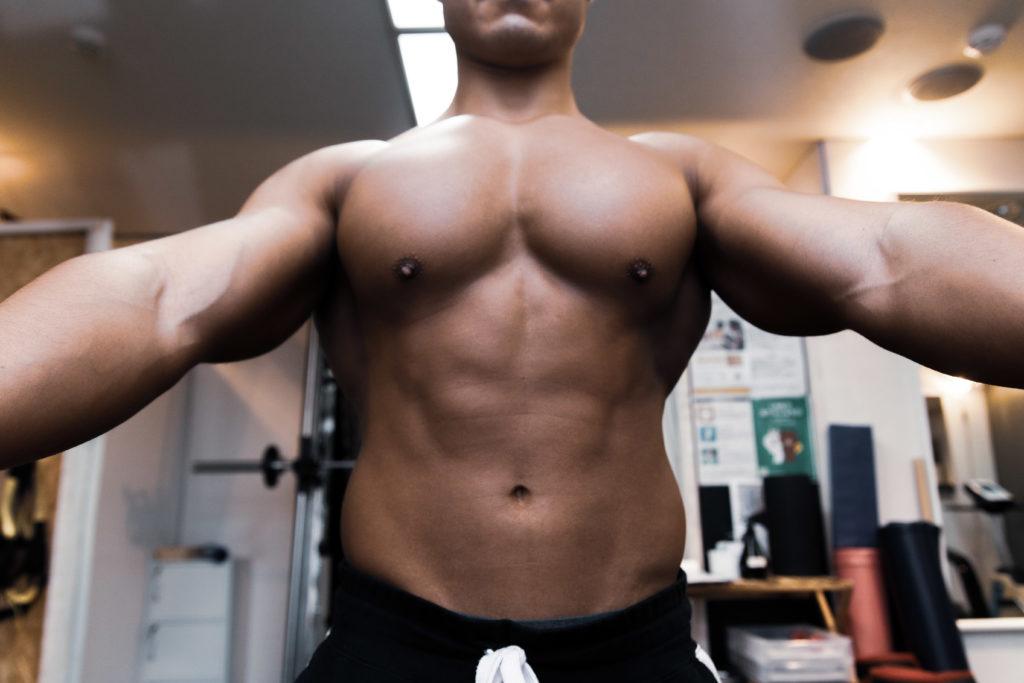 あなたのチェストプレスを補助する大胸筋/reference stock photo muscle pecs@アスリートモデル マッチョ