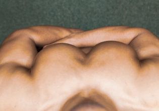 大胸筋を上から見てみた/reference stock photo muscle pecs@アスリートモデル マッチョ