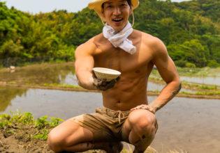 早くごはんちょうだい/reference photo muscle rice field@著作権フリー 画像 筋肉