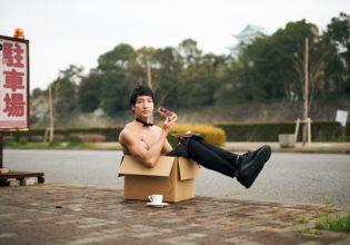 名古屋に捨てマッチョ/reference photo box macho Nagoya@著作権フリー 画像 筋肉