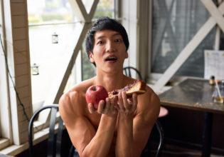 小倉トーストとりんごとマッチョ@著作権フリー 画像 筋肉