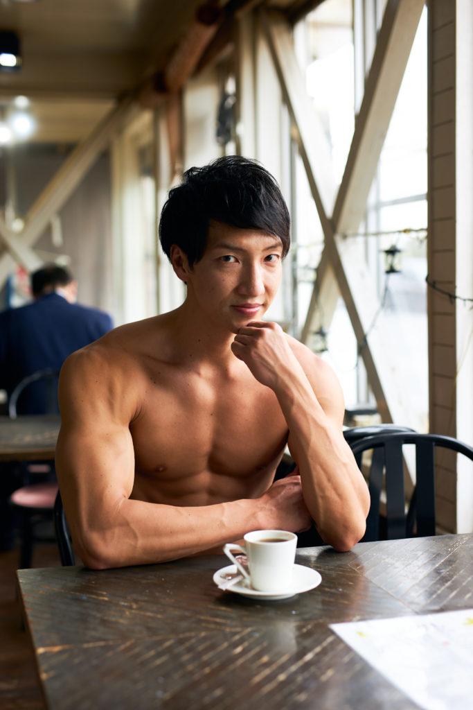 名古屋喫茶店のマッチョ/reference photo muscle coffee shop@モデル 筋肉