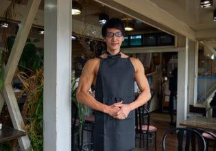 喫茶「三角筋」のマスターマッチョ@写真 マッチョ