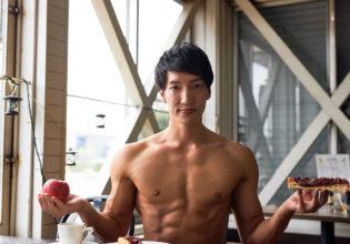 小倉トーストとりんごとマッチョ@refarence photo muscle