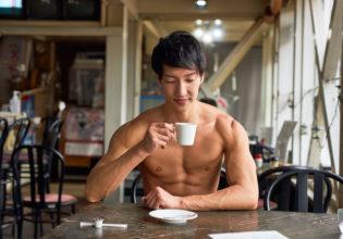 名古屋喫茶店のマッチョreference photo muscle coffee shop Nagoya@フリー素材 マッチョ (3)
