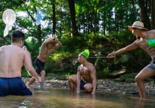 野生のマッチョを捕えようとするマッチョreference photo muscle@フリー素材 筋肉
