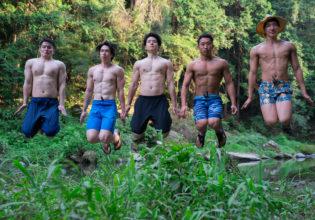 平行世界の夏休みへタイムトラベルするマッチョ/reference photo muscle summer@フリー素材 筋肉