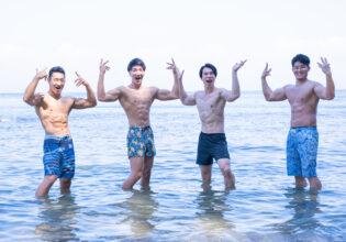 海のマッチョ@著作権フリー画像 筋肉