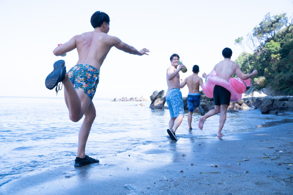 真夏のマッチョをつかまえて@著作権フリー画像 筋肉