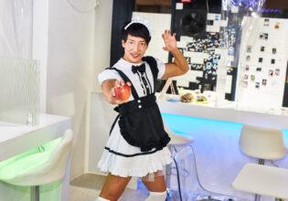 【メイド喫茶のマッチョ】りんごとマッチョメイド/reference photo for drawing maid macho/maid cafe@メイド 画像 無料