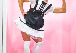 【メイド喫茶のマッチョ】ラブリーマッチョメイド/reference photo for drawing maid macho/maid cafe@メイド 写真 フリー