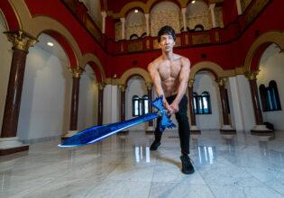 魔王と対峙するマッチョ/reference photo muscle get isekaid@フリー素材 筋肉